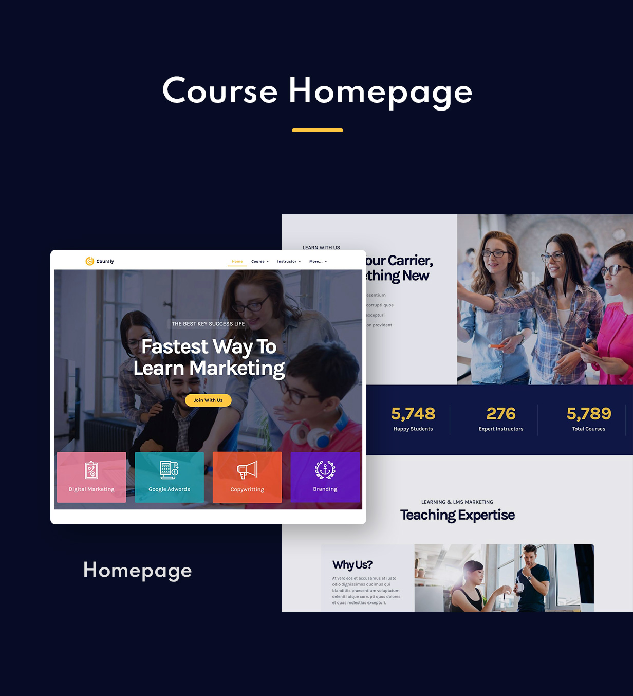Coursly | Offline Course Elementor Template Kit - 1