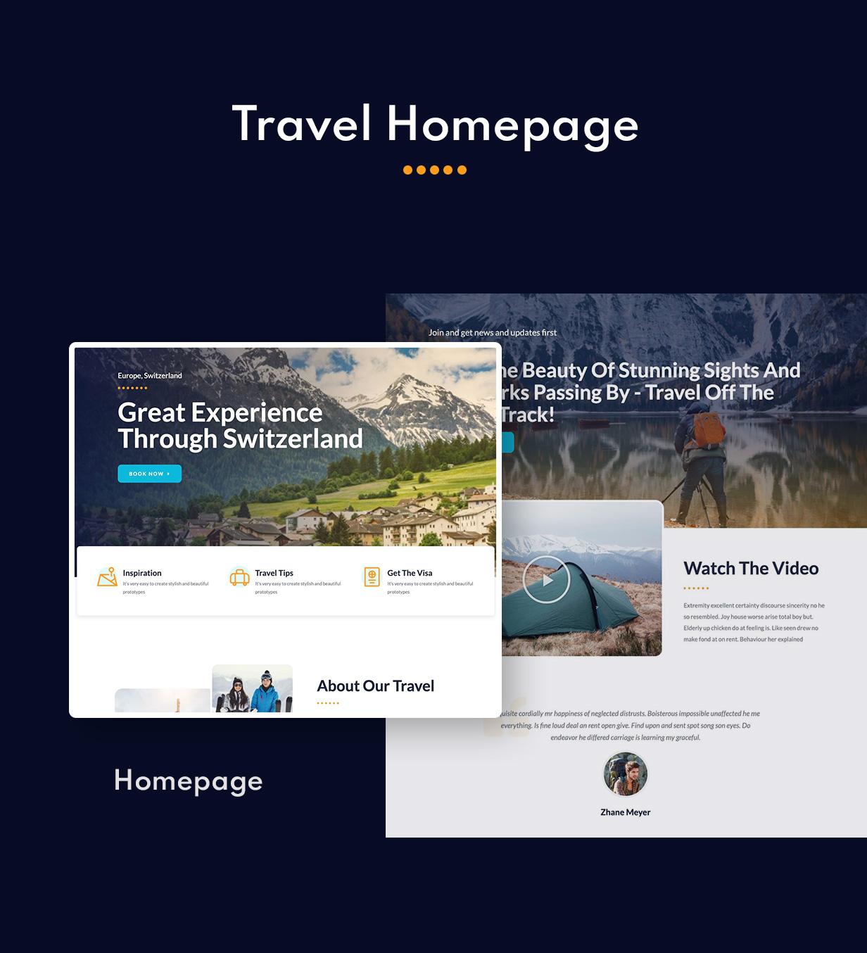 Retrave | Travel Elementor Template Kit - 1