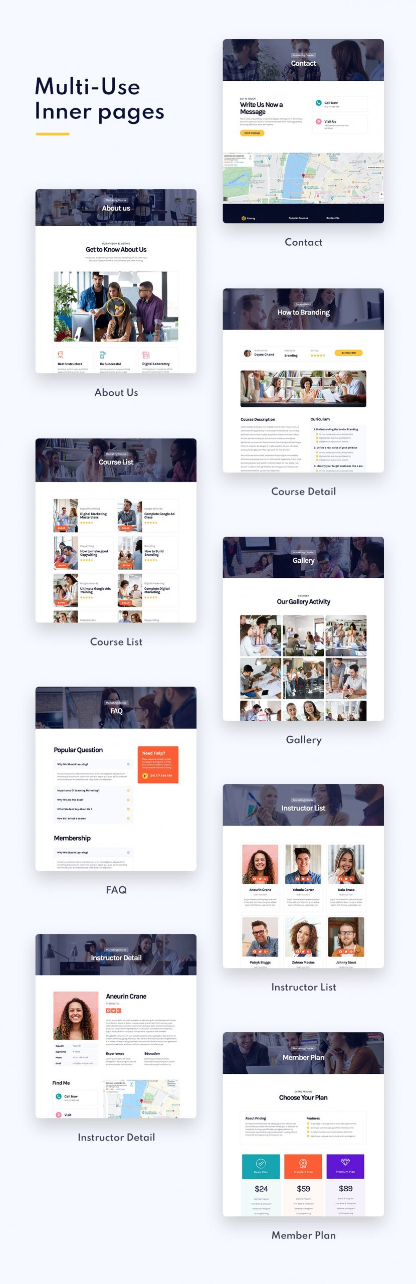 Coursly | Offline Course Elementor Template Kit - 2
