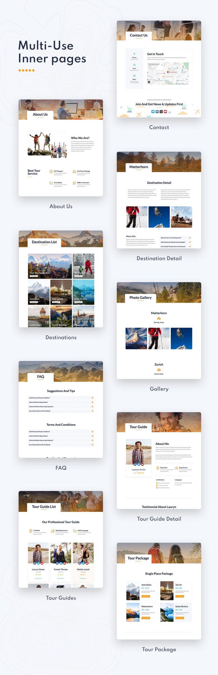 Retrave | Travel Elementor Template Kit - 2